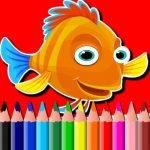 BTS Fisk Coloring Bok