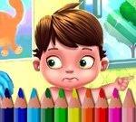 Tilbake Til Skolen Coloring Bok